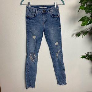 Zara Jeans - Zara trafaluc distressed raw hem skinny jeans 4